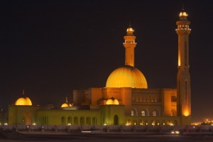 Al Fateh Mosque in Manama - Bahrain (night)