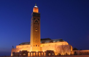 Hassan II Mosque in Casablanca - Morocco (night)