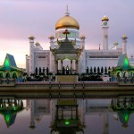 Omar Ali Saifuddin Mosque golden doom