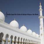 Sheikh Zayed Mosque white domes picture