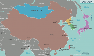 Islam in East Asia map